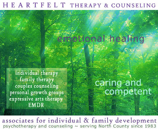 San Diego Counseling and psychotherapy practice, AIFD, offers individual therapy, family therapy, couple counseling, interactive group therapy.